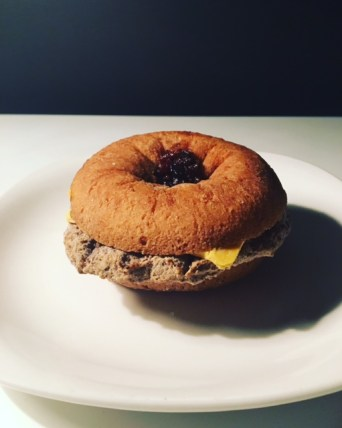 Great Value Donut Cheeseburger
