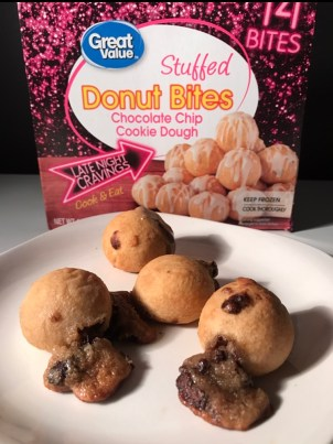 Great Value Stuffed Donut Bites (Chocolate Chip Cookie Dough)