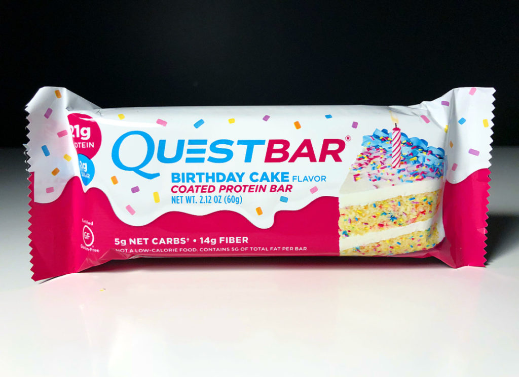REVIEW Birthday Cake Quest Bar