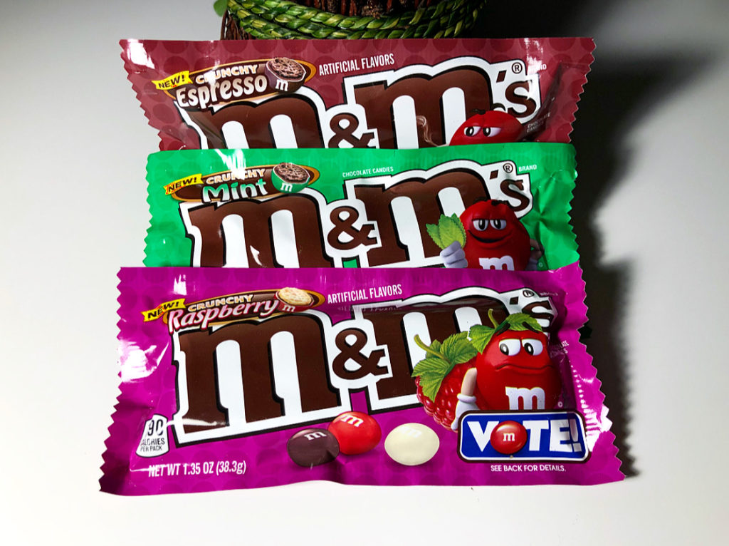 Review X3 M M S Crunchy Flavor Vote Mint Raspberry Espresso Junk Banter