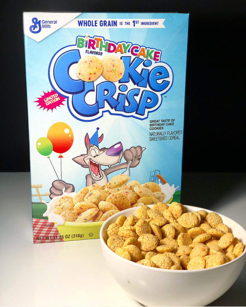 REVIEW General Mills Birthday Cake Cookie Crisp