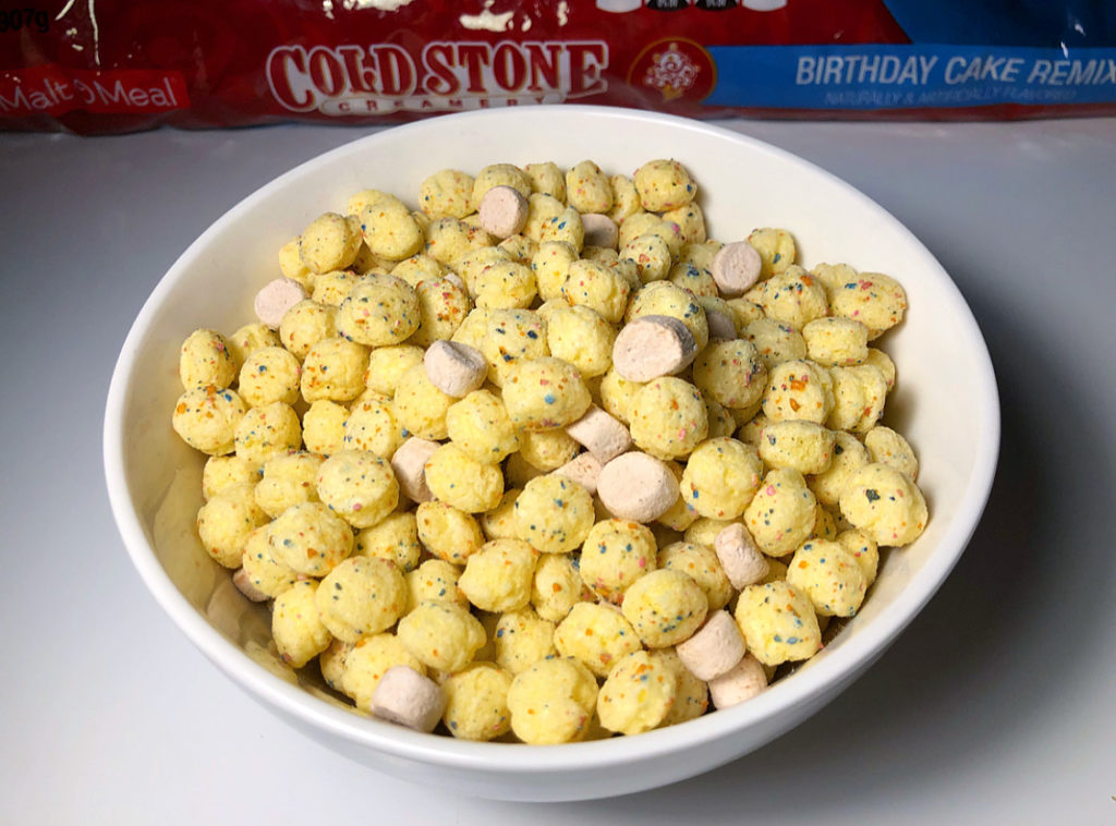 Review Malt O Meal Cold Stone Creamery Birthday Cake Remix Cereal