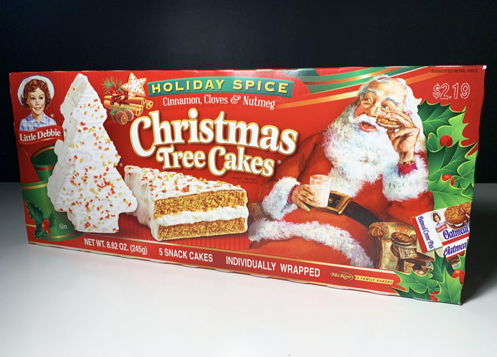 Review Little Debbie Holiday Spice Christmas Tree Cakes Junk Banter