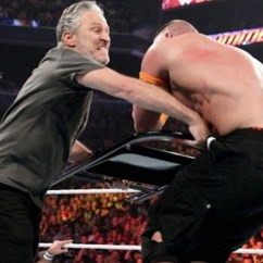 Steel Chair In Wrestling Slipcovers For Chairs With Arms A Newly Bearded Jon Stewart Just Sucker Punched John Cena At Wwe Summerslam
