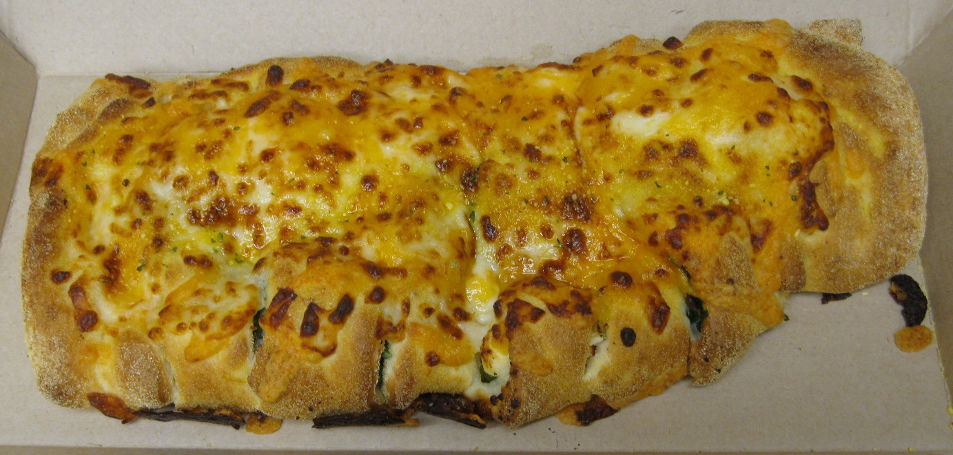 Dominos Stuffed Cheesy Bread Spinach Feta And Bacon Jalapeno