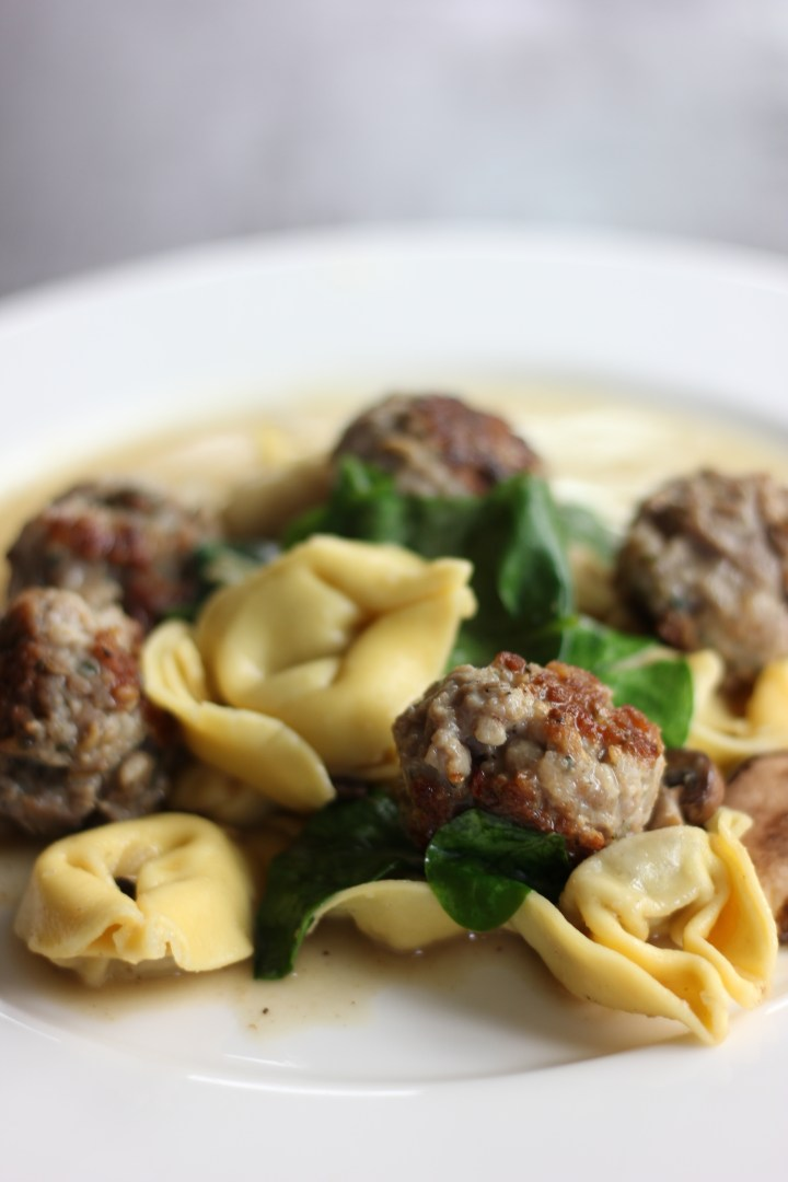 Sausage Meatballs and Tortellini