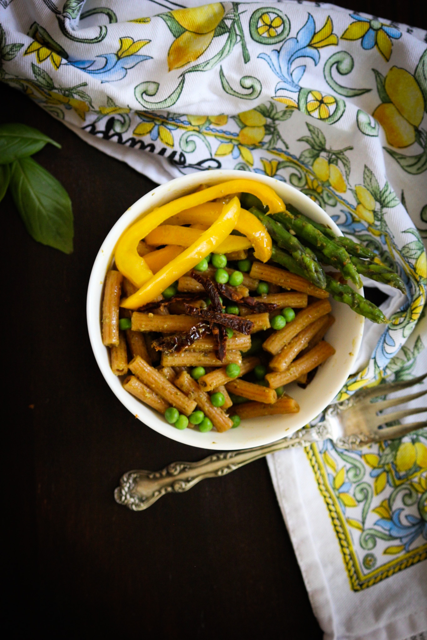 Salada de macarrão vegetariano - crianças de junk food 9