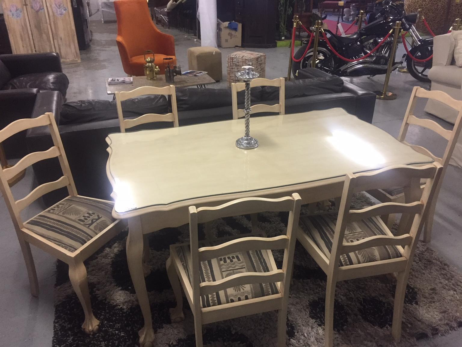 Refurbished Chairs Refurbished Ball And Claw Dining Table 6 Chairs