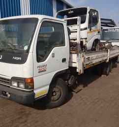 isuzu nqr 500 truck stripping 4 spares 4he1t engine 6 sp gear box [ 1536 x 1536 Pixel ]
