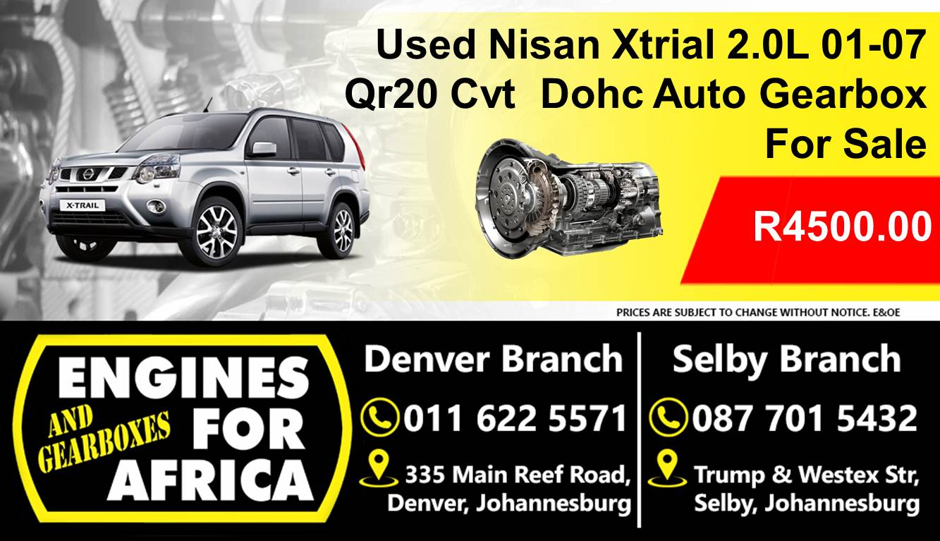 hight resolution of used nissan xtrial 2 0l dohc 01 07 qr20 cvt auto gearbox for sale junk mail