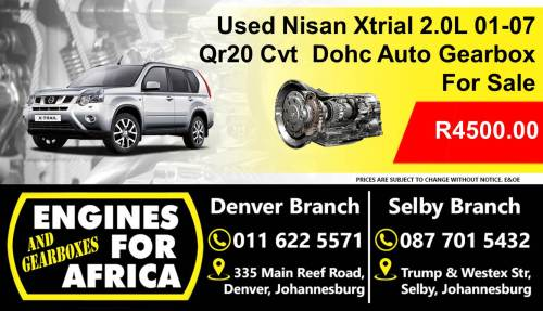 small resolution of used nissan xtrial 2 0l dohc 01 07 qr20 cvt auto gearbox for sale junk mail