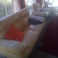 Leather Sofas Western Cape Reclining For Small Es Beautiful White 6 Seater 3 Piece Lounge Suite