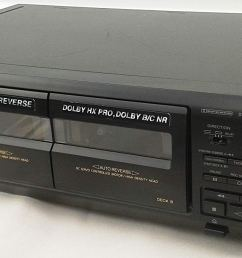 sony tc we405 recordable stereo double cassette tape deck with auto reverse and dolby hx [ 1500 x 682 Pixel ]