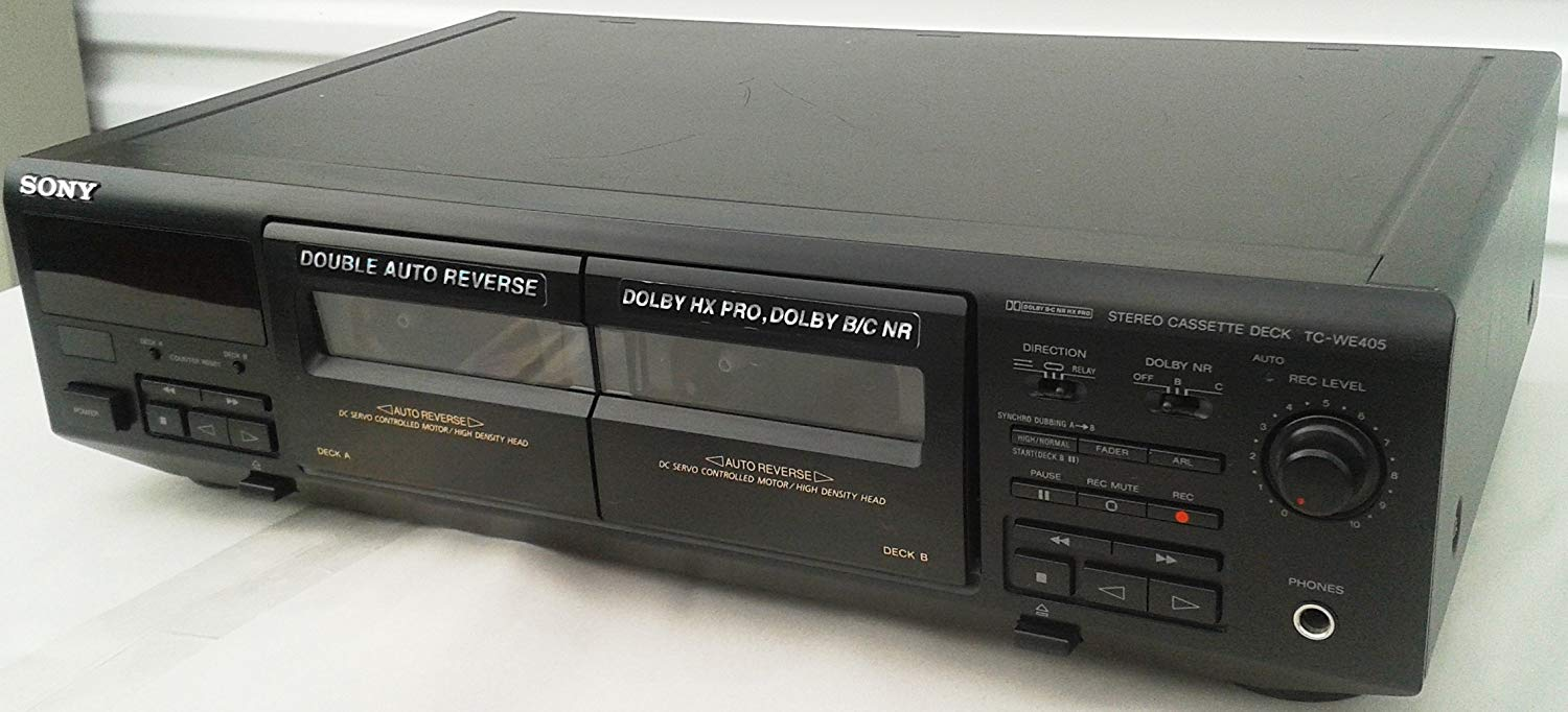 hight resolution of sony tc we405 recordable stereo double cassette tape deck with auto reverse and dolby hx