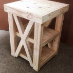 Night Stand Farmhouse Series 510 With 2 Shelves And Crosses Raw Junk Mail