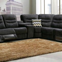 Electric Sofa Set Grey Fabric Chesterfield Corner Belinda Lounge Suite Genuine Leather Uppers With Motion Wireless Speaker