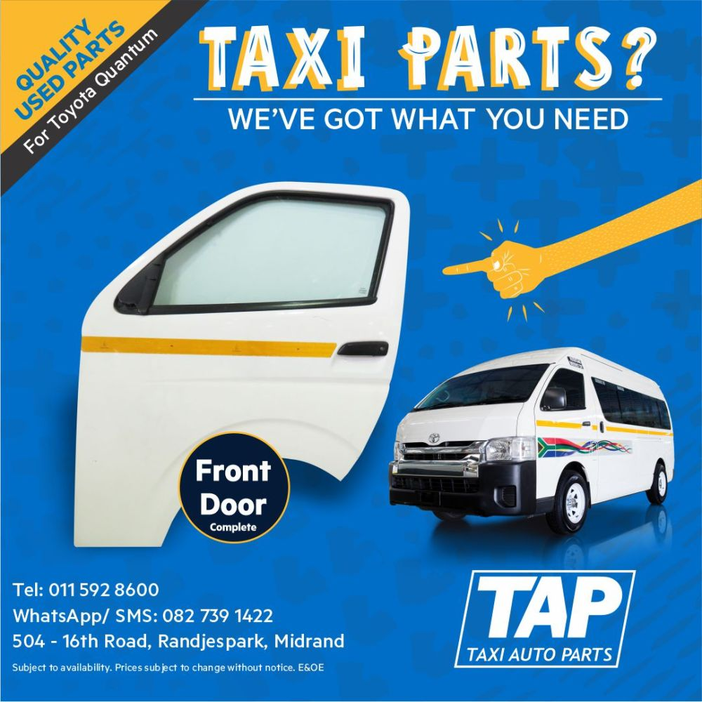 medium resolution of front door for toyota quantum taxi auto parts quality used spares tap junk mail