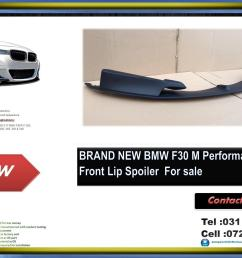 bmw f30 brand new plastic m performance style front lip spoiler for sale price  [ 1536 x 1115 Pixel ]
