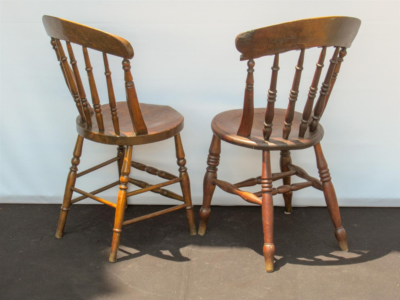 Kitchen Chairs Wood Pair Of Victorian Elm Farmhouse Kitchen Chairs Sku 123 124