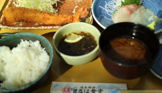 【中部国際空港】のランチはココ!1,250円で海老フライ&刺身『まるはセントレア定食』がおすすめ