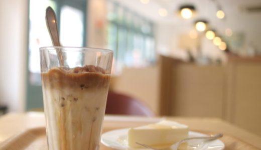 自家焙煎にこだわる『ペギー珈琲』のアイスカフェオレ&レアチーズケーキ