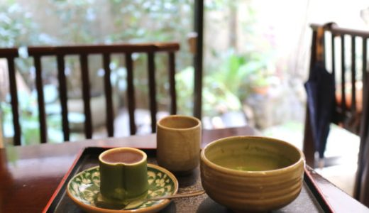 名古屋・伏見「むらさきや」雅な茶室でお庭を眺めながらお抹茶と和菓子をいただく