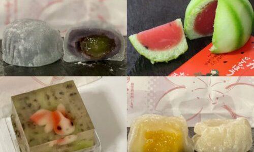 中村公園『小ざくらや一清』夏の創作和菓子「すいかどろぼう」「金魚」、フルーツ大福など