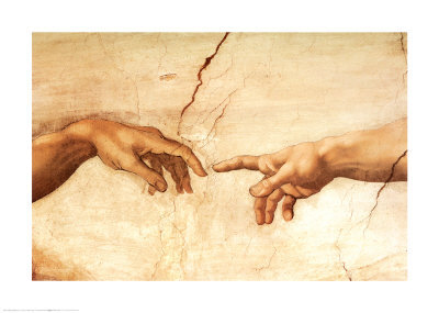 Detail from ''Creation of Adam'' by Michelangelo