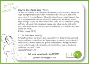 Juno - Wedding Day Special Offer