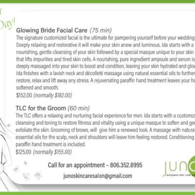 Fall Weddings Facial Care for Your Special Day!