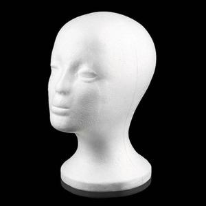 Practical Foam Female Mannequin Head Wigs Glasses