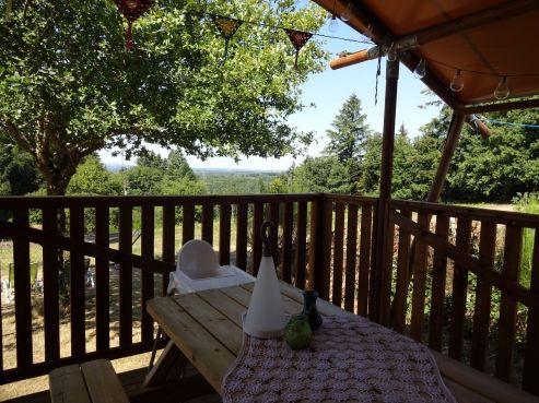 eco lodge uitzicht veranda