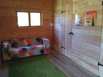 Eco-chalet woonkamer