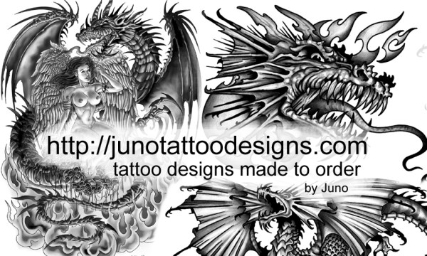 fantasy and earth dragon tattoos