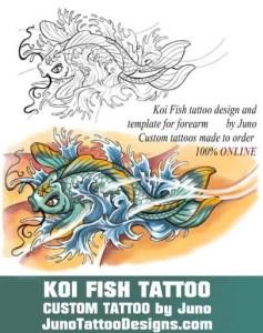 koi fish tattoo stencil, juno tattoo designs