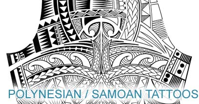 polynesian samoan tattoo template