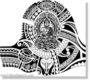 samoan tibetan buddhist tattoo design