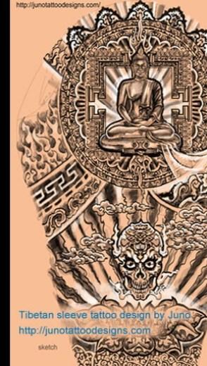 tibetan buddha tattoo, juno tattoo designs