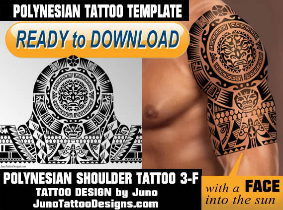 polynesian shoulder tattoo 3f template, juno tattoo designs