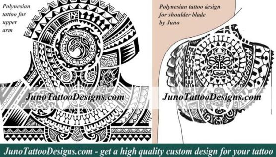 polynesian tattoo, samoan tattoo, arm tattoo, shoulder blade tattoo, juno tattoo designs