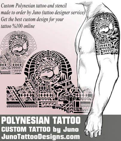polynesian tree tattoo - samoan tattoo template - juno tattoo designs