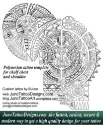 Polynesian tattoo shoulder  template by juno tattoo designs