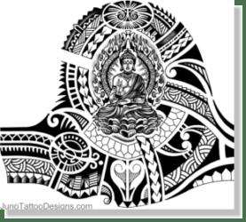 samoan tibetan buddhist tattoo design