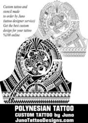 polynesian turtle tattoo by juno tattoo designs