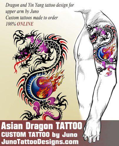 asian dragon tattoo, chinese tattoo, juno tattoo designs