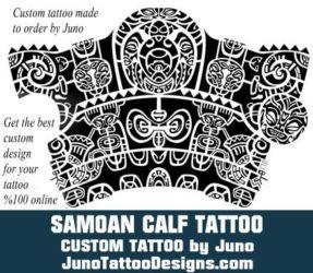 Samoan calf tattoo by  juno tattoo designs