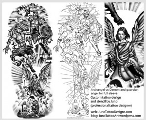 archangel-vs-demon-guardian-angel-tattoo-template-arm-tattoo