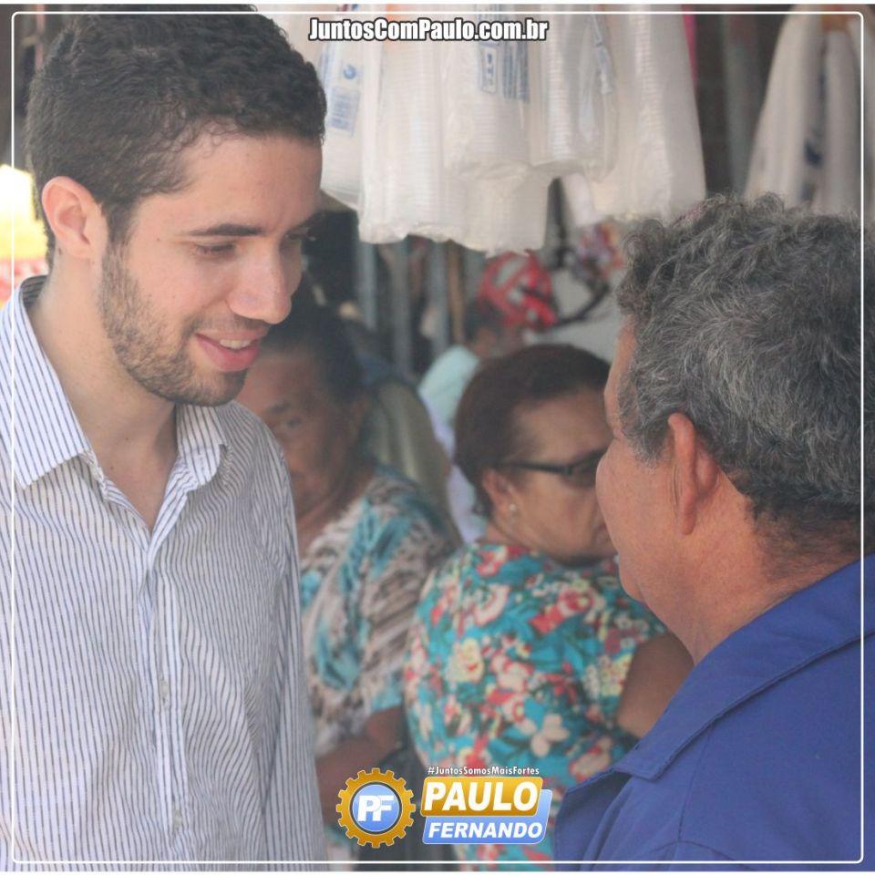 Paulo Fernando realiza visita à feira pública de Paulista  (5)