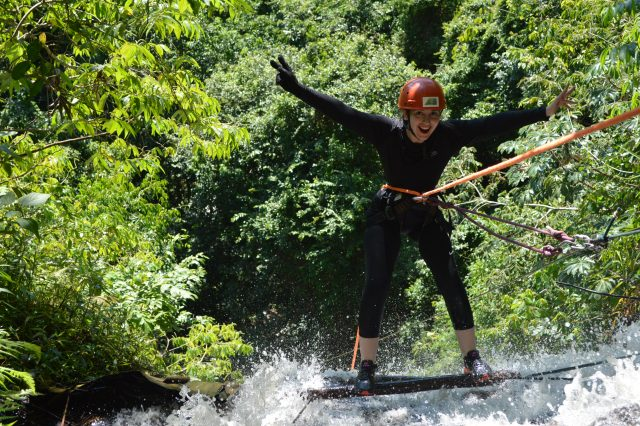 Cachoeirismo: aventura de rapel na cachoeira Santa Eulália em Brotas-SP!