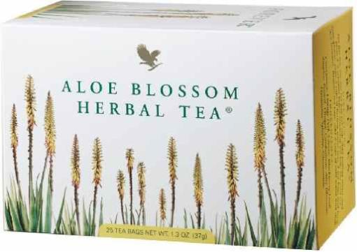 Aloe Blossom Herbal Tea, Zero Calories, No caffeine, Full spiced, fruity flavor